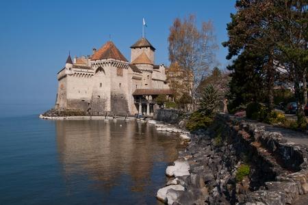 chillon: Chateau de Chillon, Montreux Switzerland Stock Photo