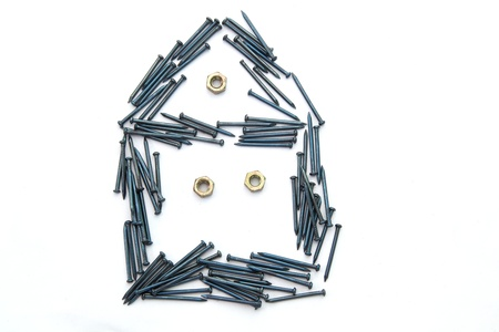 house from nails and bolts Stock Photo - 8968029