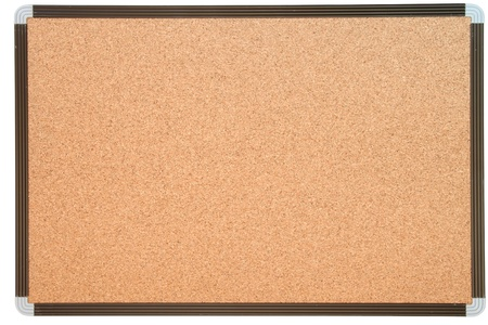 empty notice cork board with white frame Stock Photo - 8980373