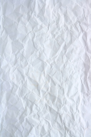 Wrinkled White paper using as background photo