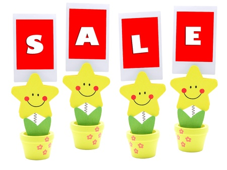 Sale sign on star holder Stock Photo - 8991307