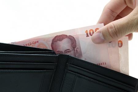 pick money: concepto de recoger dinero de cartera