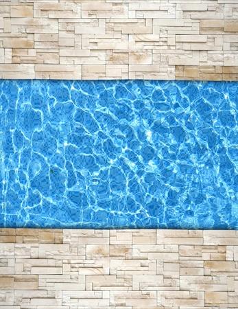 bordi: ammattonato moderno con sfondo di bordo piscina
