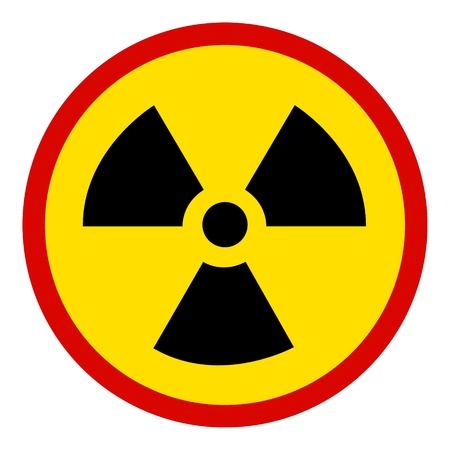 no Nuclear Sign on white Stock Photo - 9136407