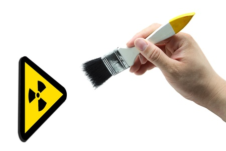 concept of nuclear painting Stock Photo - 9136410