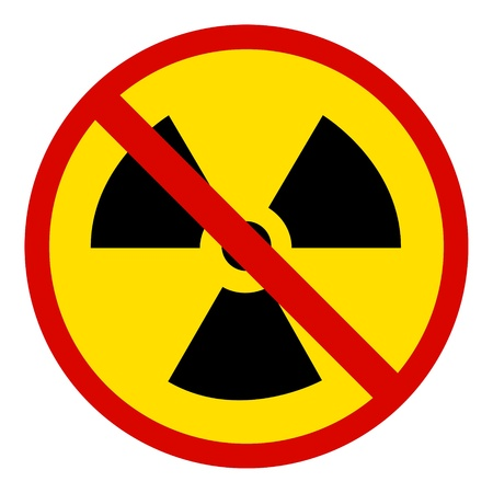 no Nuclear Symbol Stock Photo - 9136416