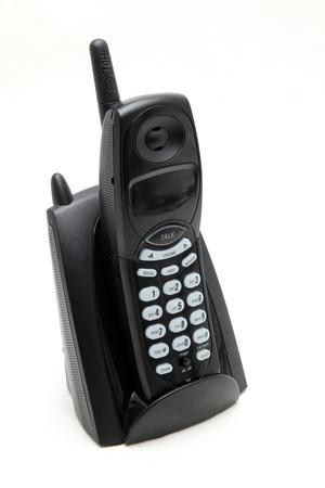 black cordless phone photo