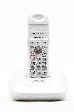 white cordless phone on white photo