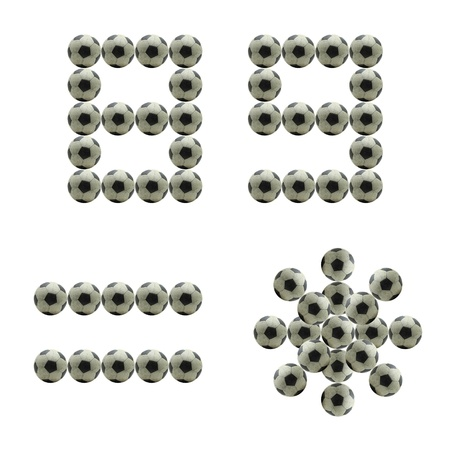 num: letter Number 8 9 = * made from grunge scratch football isolated on white