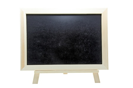 isolated empty chalk board or blackboard on white Stock Photo - 9406083