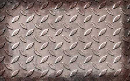 reg: Reg diamont plate metal background Stock Photo