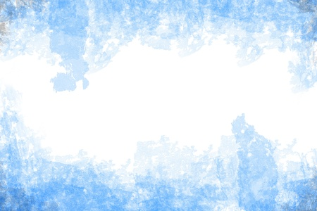 abstract blue grunge style on white paper background photo