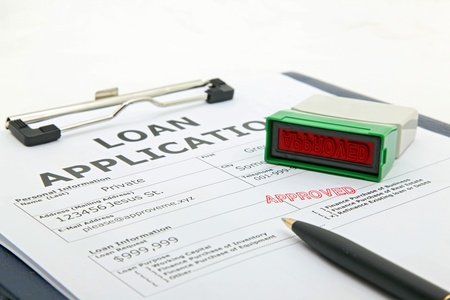 business concept the process of loan application contract approved Stock Photo - 9544471