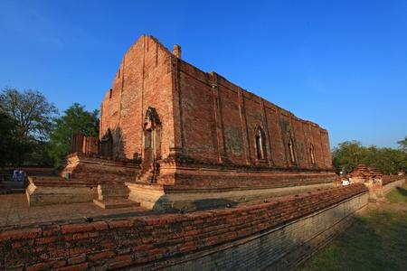 ruin of monastery in temple bangkok wat Thailand photo