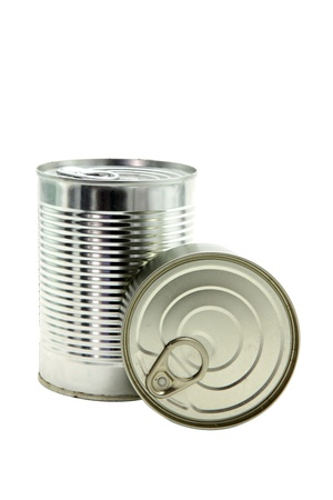 studio shot of food Aluminum metal can Isolated on white background photo