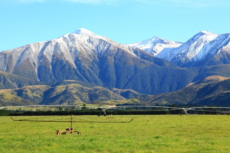 part of southern alps in New Zealand photo