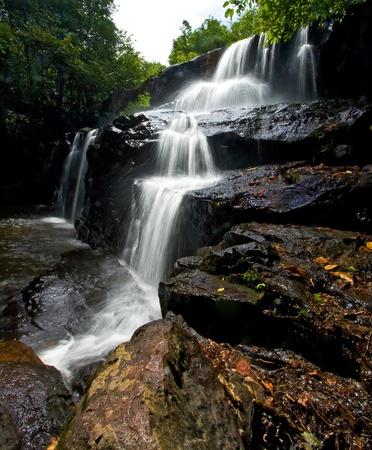 Pangsida Paradise Waterfall East of Thailand, Vertical photo