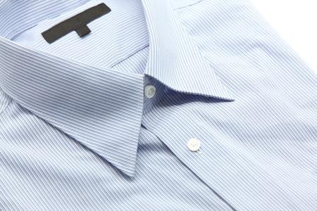 camisa: Cierre de vista de una camisa de trabajo azul gen�rico con un patr�n de l�nea