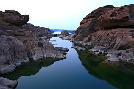 khong river: 3000 Holes Lake, Grand Canyon of Thailand at Border with Loas