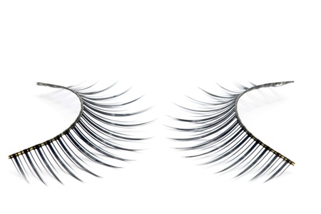 pair of fake false eyelash isolated on white Stock Photo - 10199911