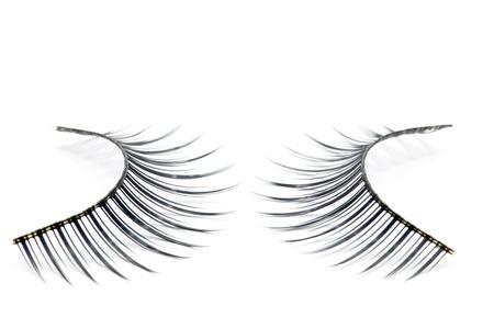 false eyelash: pair of fake false eyelash isolated on white Stock Photo