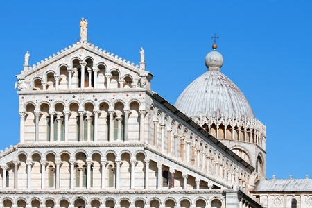 cathedral of Pisa duomo and bell tower located at leaning tower of Pisa photo