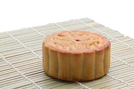 moon cake traditional dessert for autumn festival in China photo