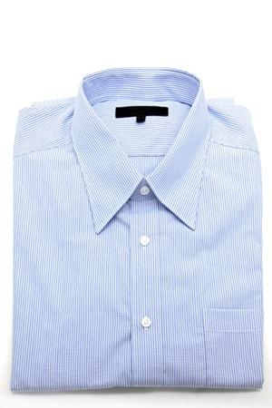 Blue business shirt on white background photo