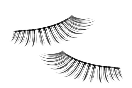 pair of fake false eyelash isolated on white Stockfoto