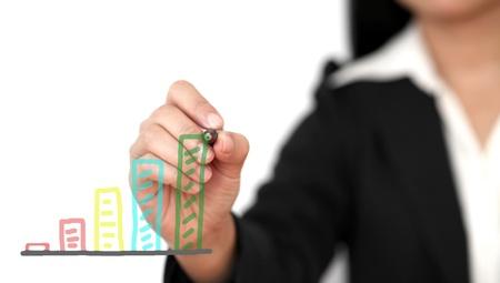 tendencja: Azjatycki Γιάννα Αγγελοπούλου rysunku aincreasing trendu wykresu Zdjęcie Seryjne