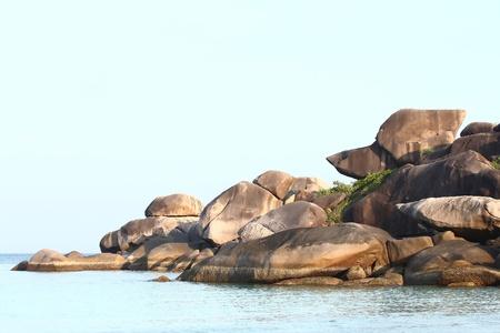 similan islands: Thailand Snoopy Rock, Similan National park.