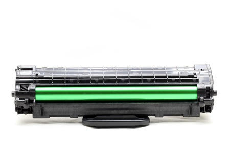 new laser printer cartridge isolated on white background