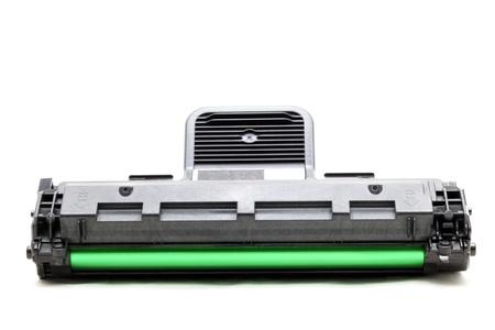 new laser printer cartridge isolated on white background photo
