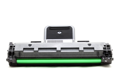 toner: new laser printer cartridge isolated on white background