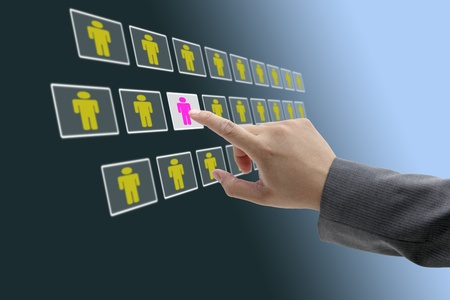 electronic business recruitment process for workforce human resource concept photo
