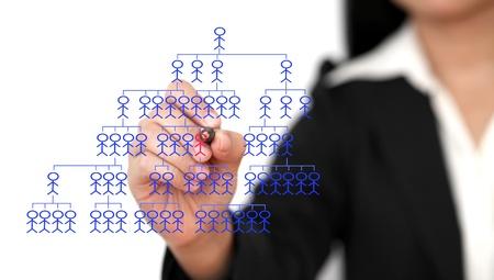 new recruit: Negocios asi�ticos mujer recluta nuevo empleado (enfoque selectivo de pluma)