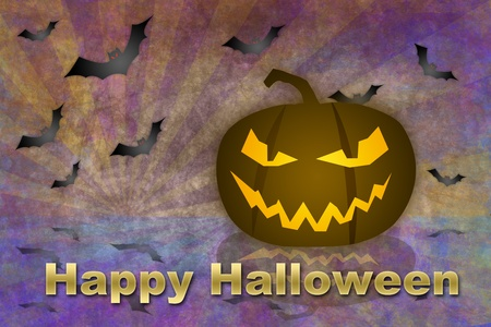 Halloween background in grunge style Stock Photo - 10513101