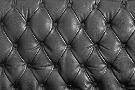 black leather texture: pattern of black genuine leather texture using as background