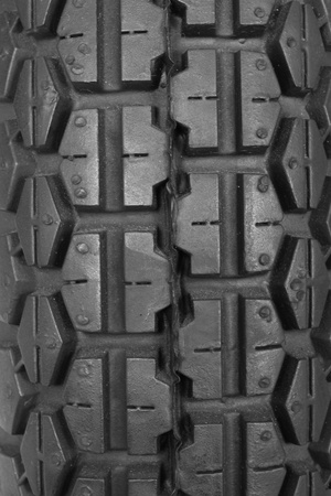 pattern of black tyre using as background Stock Photo - 10542047