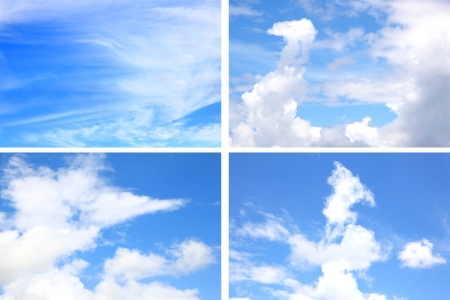 collection of natural Sky in daylight composition photo