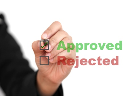 answer approve of: Asian business woman approve work  Stock Photo