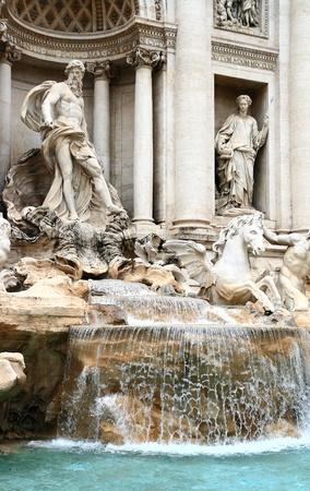 fontana: trevi fountain Rome Italy Stock Photo