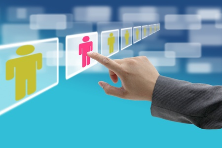 interfaces: electronic business recruitment process for workforce human resource concept