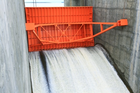 thai dam: close up of Water gate of Dam in Thailand