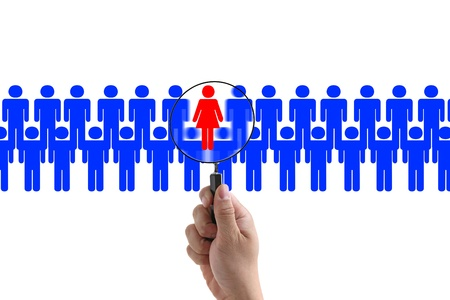woman employee in workplace for business recruitment photo