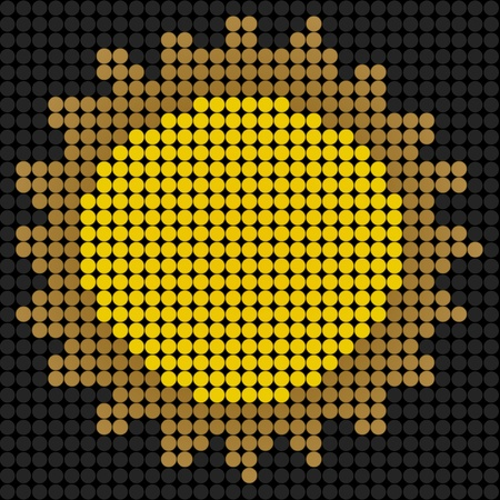 weather sun icon on technology LED Screen photo