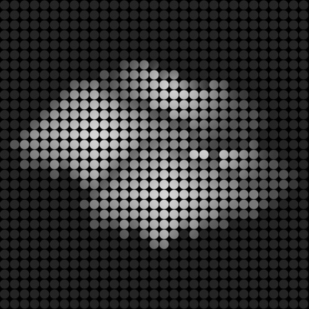 wall cloud: weather cloud icon on technology LED Screen