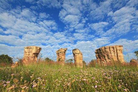 hin: Mor Hin Khao, Thailand stonehenge, with beautiful field