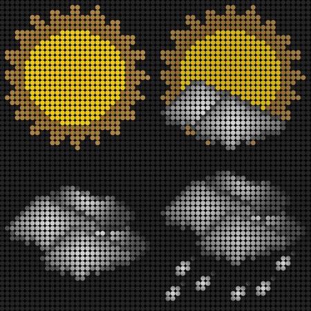 Collection of weather Sun day time on Technology LED Screen Stock Photo - 10852534