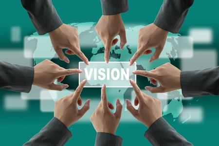 consensus: A diverse business teamwork do World vision technology